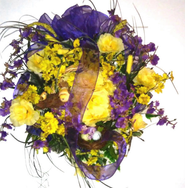 DECORATED Sympathy Wreath