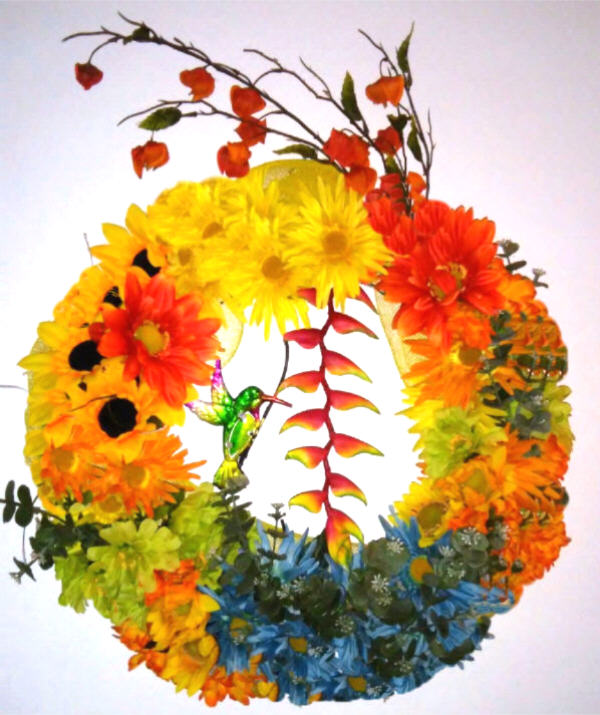 DECORATED TROPICAL PARADISE WREATH