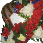 Heroes wreath close up