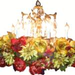 Fall Hanging Chandelier Garland